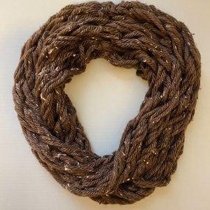 5/$25 Brown and Tan Handmade Infinity Scarf